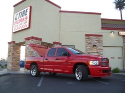 Red Truck With A Detailing Job
