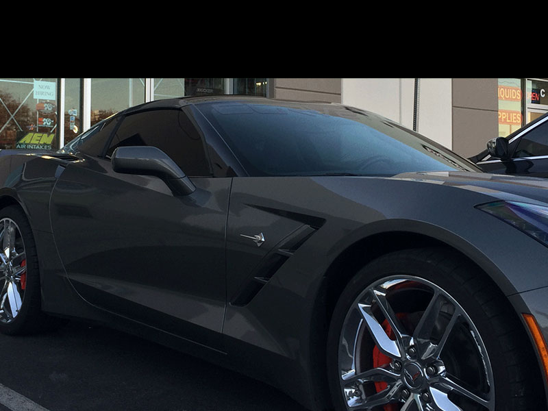 Grey Corvette With Car Tint Las Vegas